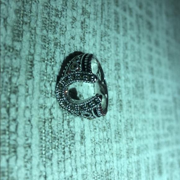 marcasite Jewelry - Horseshoe Ring
